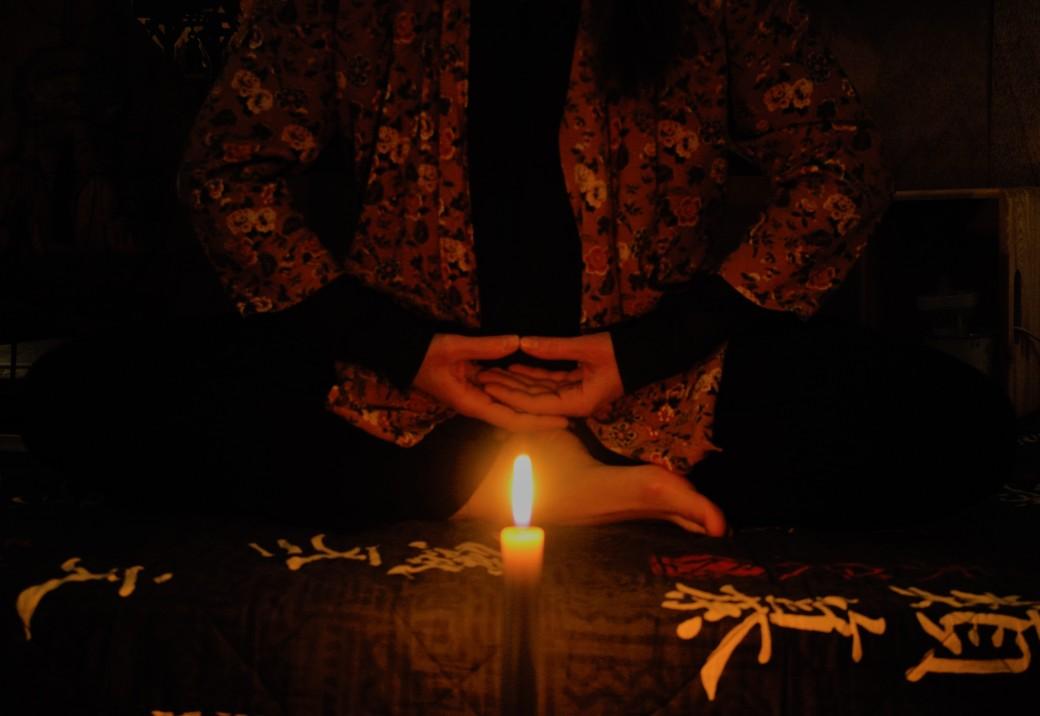 méditation bougie